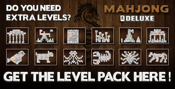 Mahjong Deluxe Extra Levels
