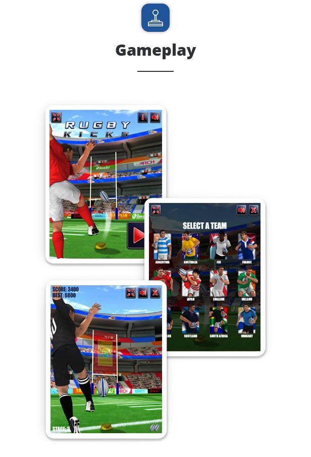 Rugby Kicks - HTML5 Sport Game Download